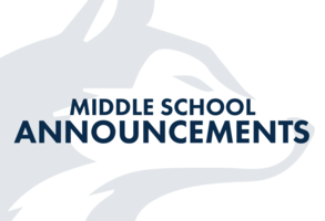 HEMLOCK MIDDLE SCHOOL ANNOUNCEMENTS