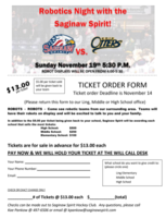 Saginaw Spirit Robotics Night