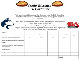 ​Special Education Pie Fundraiser