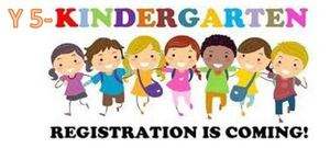 KINDERGARTEN/YOUNG FIVE REGISTRATION- ONLINE PRE-REGISTRATION AVAILABLE FEBRUARY  2ND, 2018