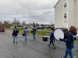 Hemlock Drumline Brightens Seniors' Day Over Holiday Break