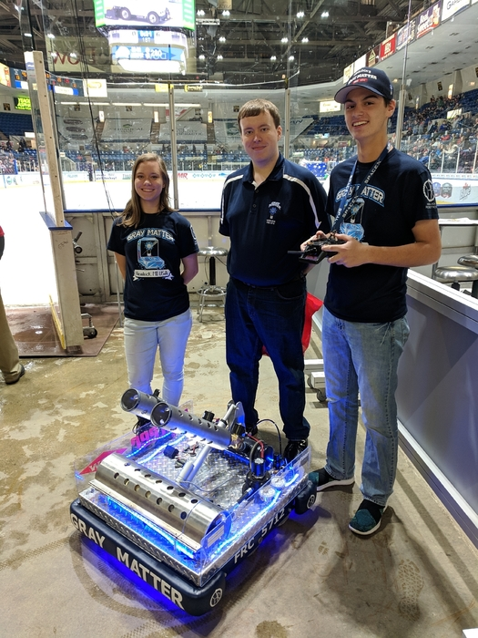 Robotics Night at Saginaw Spirit.