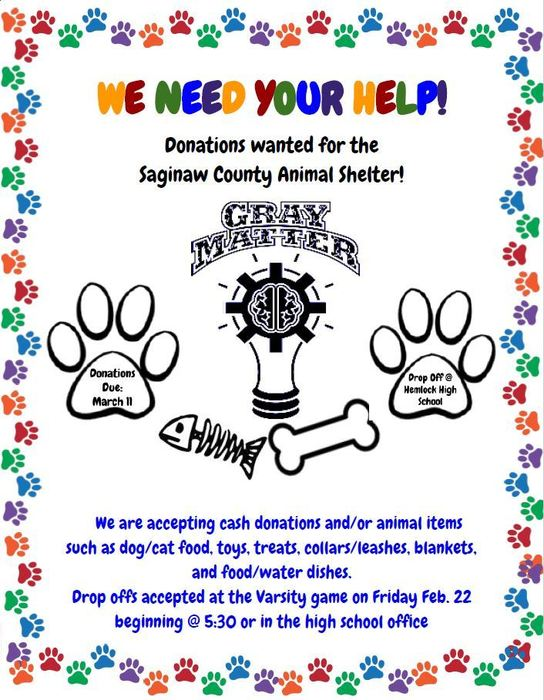 Animal Shelter Donations Flyer
