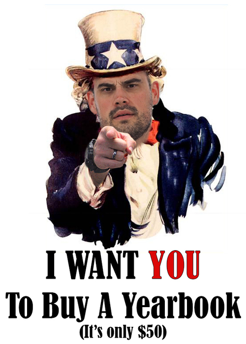 I want you to buy a yearbook
