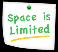 Space is limited
