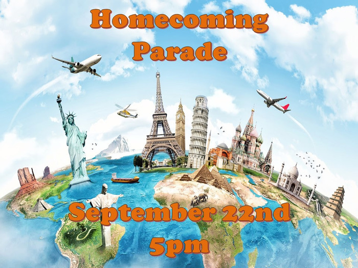 Homecoming Parade 9.22.17 at 5 PM