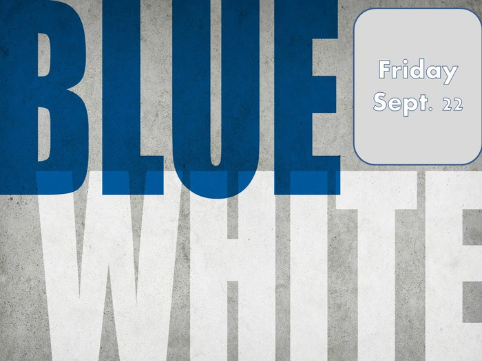 Blue and White day is Friday, September 26