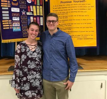 Sierra Yell and Gage Slominski-HS Student Optimists Honored